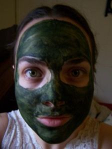 Author with Spirulina Mask